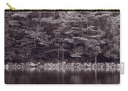 Forest At Jordan Pond Acadia Bw Carry-all Pouch