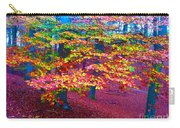 Forest Color Leaves Carry-all Pouch