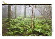 Forest Ferns On A Foggy Morning Carry-all Pouch