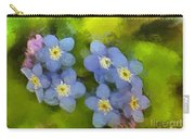 Forget-me-not Flower Carry-all Pouch