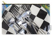 Forks On Checker Plate Carry-all Pouch