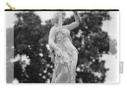 Forsyth Fountain - Black And White 2 Carry-all Pouch