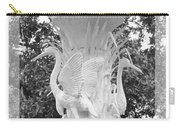 Forsyth Fountain - Black And White 4 Carry-all Pouch