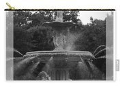 Forsyth Park Fountain - Black And White Carry-all Pouch