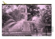 Forsyth Park Fountain In Pink Carry-all Pouch