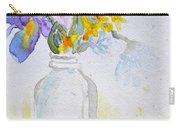 Forsythia And Ghost Daisies Carry-all Pouch