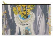 Forsythia In Old Clear Vase Mary Carol Carry-all Pouch