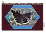 Foster Dad Father's Day Card - Mourning Cloak Butterfly Carry-all Pouch