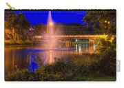 Fountain And Bridge At Night Carry-all Pouch