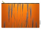 Fountain Grass In Orange Carry-all Pouch