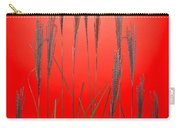 Fountain Grass In Red Carry-all Pouch
