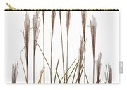 Fountain Grass In White Carry-all Pouch by Steve Gadomski