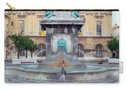 Fountain In Arles France Carry-all Pouch