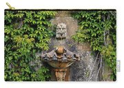 Fountain In The Walled Garden, Florence Carry-all Pouch