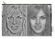 Four Interpretations Of Hilary Swank Carry-all Pouch
