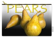 Four Pears With Yellow Lettering Carry-all Pouch
