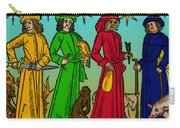 Four Temperaments, Medieval Woodcut Carry-all Pouch