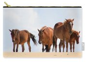 Four Wild Mustangs Carry-all Pouch