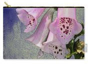 Fox Glove Blue Grunge Carry-all Pouch by Bill Cannon