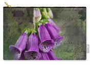 Foxglove Digitalis - Love  And Christ Carry-all Pouch