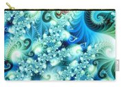 Fractal And Swan Carry-all Pouch by Odon Czintos