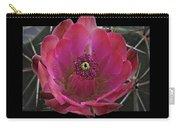 Framed Fuchsia Cactus Flower Carry-all Pouch