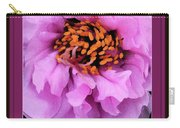 Framed In Purple - Abstract Floral Carry-all Pouch