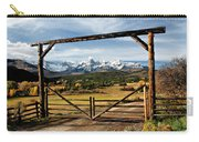 Framed Sneffels Mountain Range Colorado Carry-all Pouch