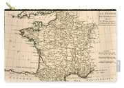 France By Regions Carry-all Pouch