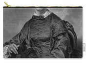 Frances Sargent Osgood (1811-1850). American Poet. Engraving From A Painting By Alonzo Chappel, C1873 Carry-all Pouch