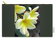 Frangipani Up Close Carry-all Pouch
