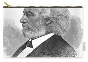 Frederick Douglass (c1817-1895). American Abolitionist. Wood Engraving, American, 1877 Carry-all Pouch