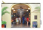 French Quarter French Market Entrance New Orleans Film Grain Digital Art Carry-all Pouch
