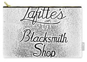 French Quarter Illuminated Lafittes Blacksmith Shop Bar Sign New Orleans Photocopy Digital Art Carry-all Pouch