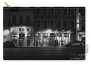 French Quarter Shopping At Night - Black And White Carry-all Pouch