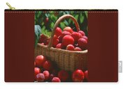 Fresh Red Plums In The Basket Carry-all Pouch