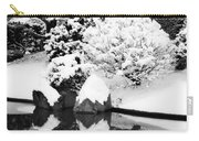 Fresh Snow And Reflections In A Japanese Garden 1 Carry-all Pouch