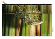 Frog Jumps Into Water Carry-all Pouch