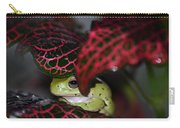 Frog On A Leaf Carry-all Pouch