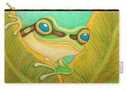 Frog Peeking Out Carry-all Pouch