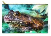 Frog Ready To Be Kissed Carry-all Pouch by Susan Savad