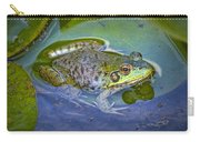 Frog Resting On A Lily Pad Carry-all Pouch