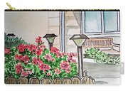 Front Yard Lights Sketchbook Project Down My Street Carry-all Pouch by Irina Sztukowski