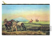 Frontiersmen And Native American Carry-all Pouch