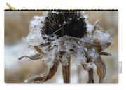 Frost And Snow On Dead Daisy Carry-all Pouch