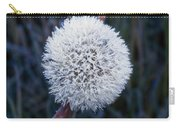 Frost On Mature Dandelion Blossom Carry-all Pouch