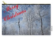 Frosted Trees Christmas Carry-all Pouch