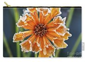 Frosty Flower Carry-all Pouch by Elena Elisseeva