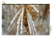 Frosty Fountain Grass Carry-all Pouch
