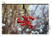 Frozen Mountain Ash Berries Carry-all Pouch